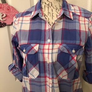 Express Tops - ⭐️EXPRESS LONG SLEEVE FLANNEL BLOUSE SIZE M